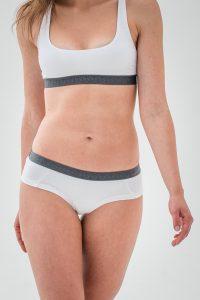 Kalhotky SMPL hipster bílé s tmavou gumou